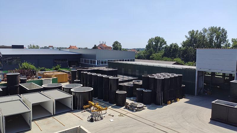 Ekomont Litoměřice - jímky, beton